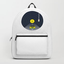 Music car and vinyl #society6 #decor #buyart #artprint Backpack