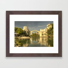 The Old Bridge at Mostar Framed Art Print