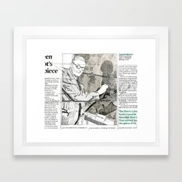 T.S. Eliot Framed Art Print