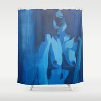 destiny Shower Curtains featuring Destiny by Marta Kozłowska