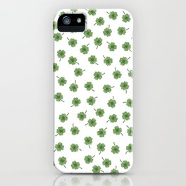 Light Green Clover iPhone Case
