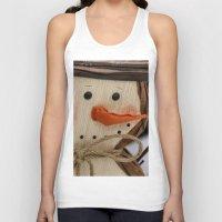 snowman Tank Tops featuring Snowman  by IowaShots
