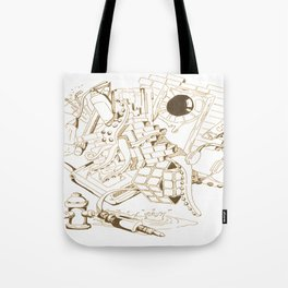 Vintage Collage of Thoughts Tote Bag