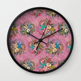 Ocean pink pattern Wall Clock