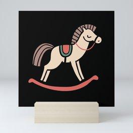 Rocking Horse Kids Toy Mini Art Print