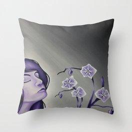 Wallflower Girl Throw Pillow