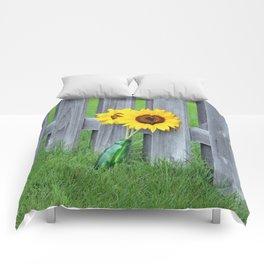 Pair of Sunflowers in Vase Comforters