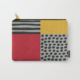 Earth Tone, Red Orange Pattern, Scandinavian Design Carry-All Pouch