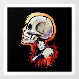 Bonehead 2 Art Print