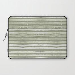 Simply Shibori Stripes Green Tea and Lunar Gray Laptop Sleeve