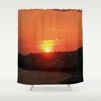 sunshine Shower Curtains featuring Sunshine by Elena Indolfi