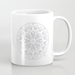 Ultimate Gray Outline Rose Window Coffee Mug