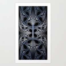 Skeletal Hall Fractal Art Art Print
