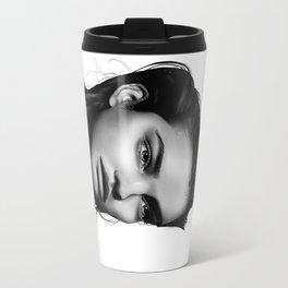 Fashion Illustration - Barbara Palvin Travel Mug