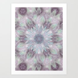 Lavender swirl pattern Art Print