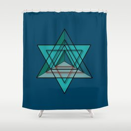 Star Tetrahedron Shower Curtain