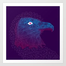 Titanium eagle Art Print
