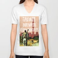 fallout V-neck T-shirts featuring Fallout 3 by Dayle Kornely