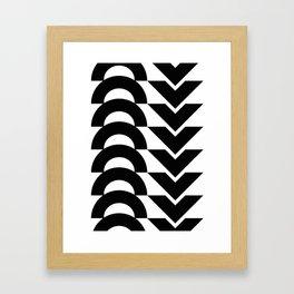 Black Arrows and Circles Graphic Art Framed Art Print