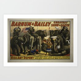 Barnum & Bailey elephant poster Art Print
