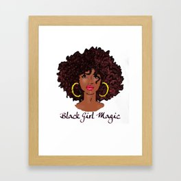 Black Girl Magic Framed Art Print