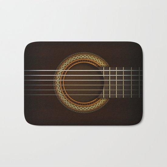 Full Guitar Black Bath Mat