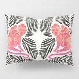 Monkey Cuddles – Pink & Black Palette Pillow Sham