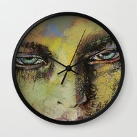 shiva Wall Clocks featuring Shiva by Michael Creese