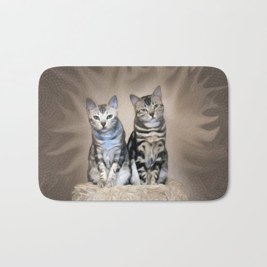 The Glare of the Silver Meowbles  Bath Mat