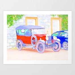 Classic in WaterColor Art Print