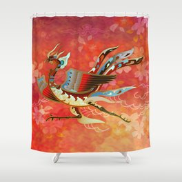 The Empress (Flight of Phoenix) Red Version Shower Curtain