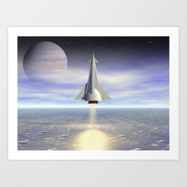 Rocket Launch Art Print