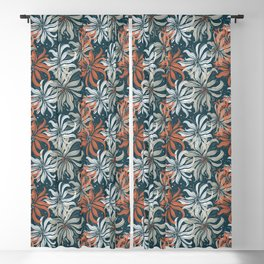 Stylized aster flowers Blackout Curtain