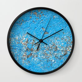 Urban Texture Photography -  Blue Painted Asphalt Wall Clock