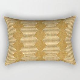 mudcloth diamonds - mustard Rectangular Pillow