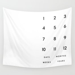 Bold and Minimal Typography Baby Milestone Blanket Wall Tapestry