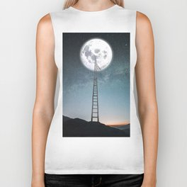 reach the moon Biker Tank