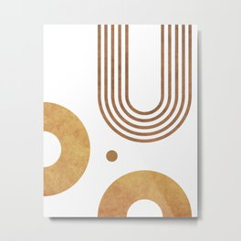 Transitions - White 03 - Minimal Geometric Abstract Metal Print
