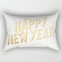 Happy New Year – White Rectangular Pillow