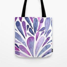 Watercolor artistic drops - purple and indigo Tote Bag