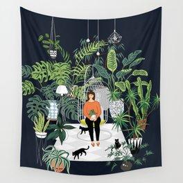 dark room print Wall Tapestry
