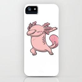Dabbing Axolotl Lurch Newt Salamander Comic Kawaii Design iPhone Case