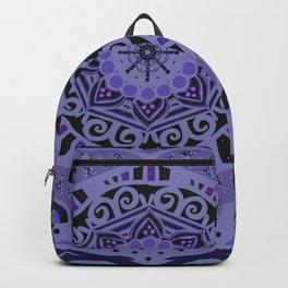 Romantic Violet Mandala at Midnight Backpack