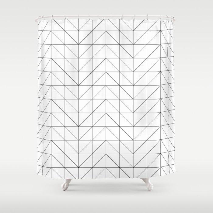 Scandi Grid Shower Curtain