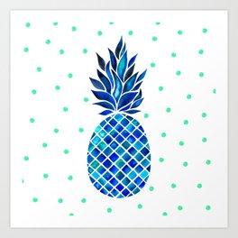 Maritime Pineapple Art Print