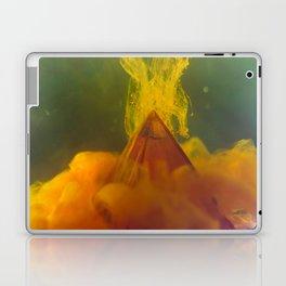 Pyramid with Orange Clouds Laptop & iPad Skin