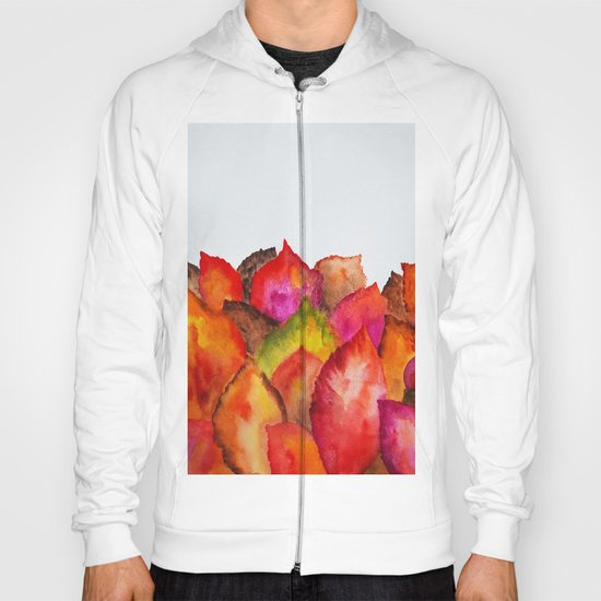 Autumn abstract watercolor 01 Hoody