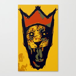King Lion R E M I X Canvas Print