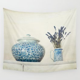 Lavender with Ginger Jar and Jug Wall Tapestry