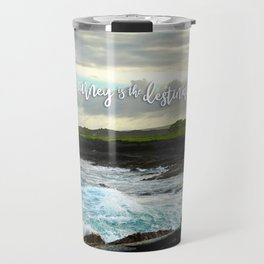 Hawaii black sand beach photo | The journey is the destination Travel Mug